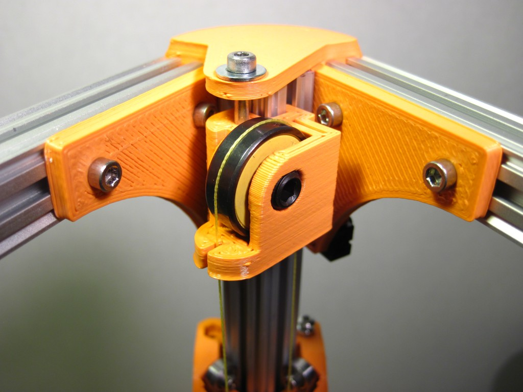kossel1 1024x768 Kossel 3D Printer (Rostock 3D Printer) using Openbeam Extrusions