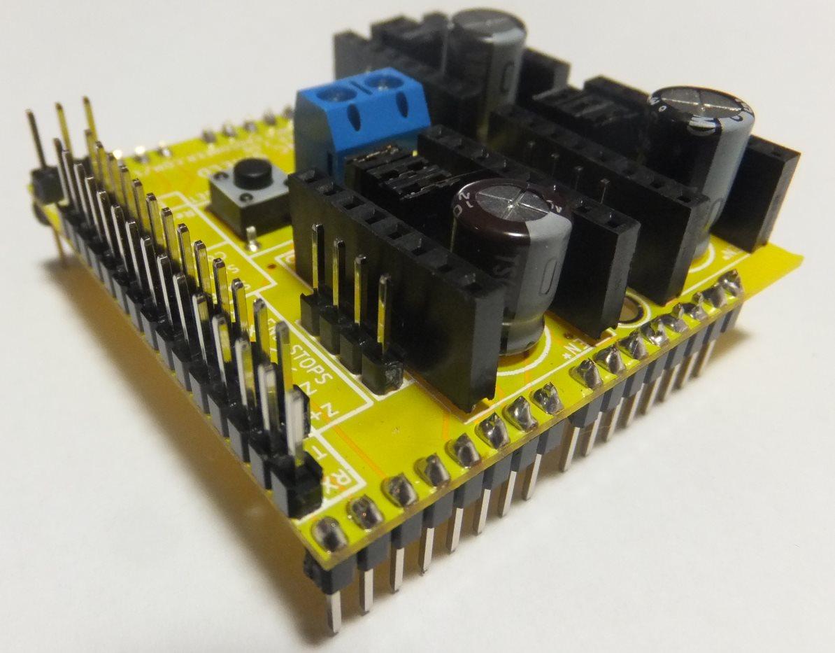 Arduino cnc shield pin stepper connectors protoneer nz