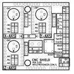 Arduino CNC Shield Board Layout 150x150 Arduino CNC Shield   100% GRBL Compatable