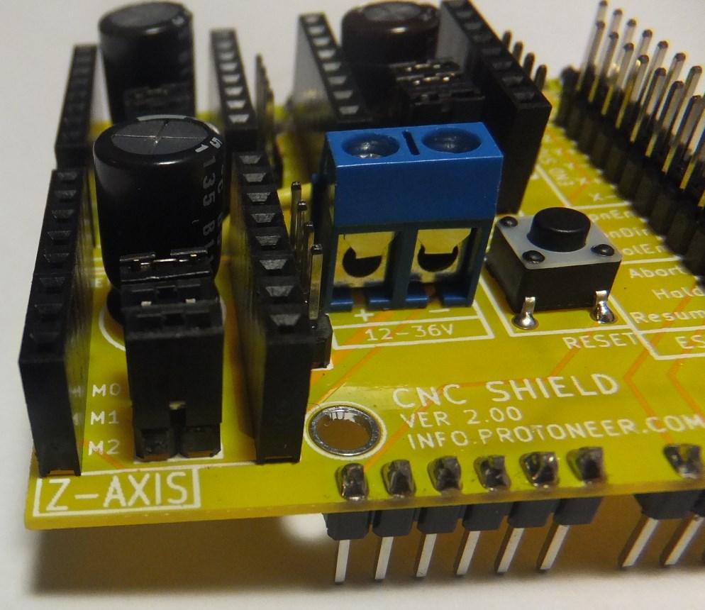 Arduino CNC Shield – 100% GRBL Compatable   Protoneer co nz