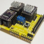Arduino CNC Shield Pololu Stepper Drivers Installed 150x150 Arduino CNC Shield   100% GRBL Compatable