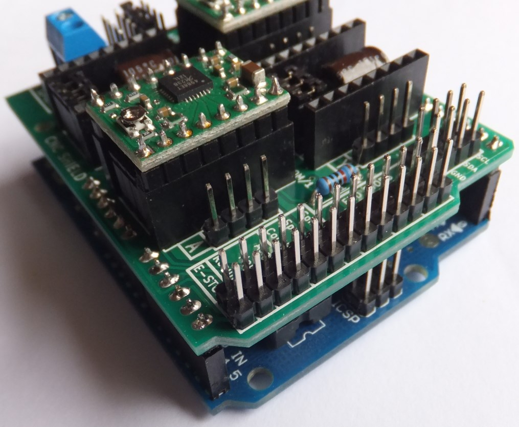 Arduino cnc shield v front protoneer nz