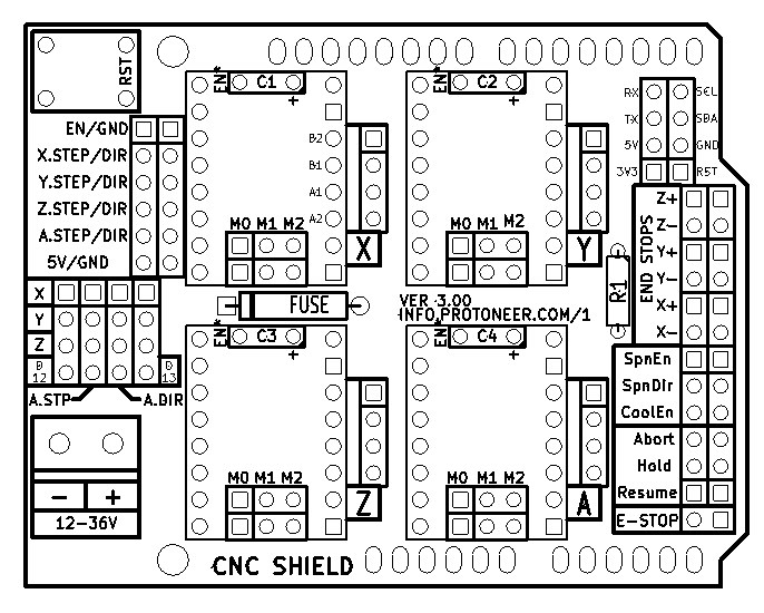 Arduino-CNC-Shield-V3-Layout | Protoneer co nz