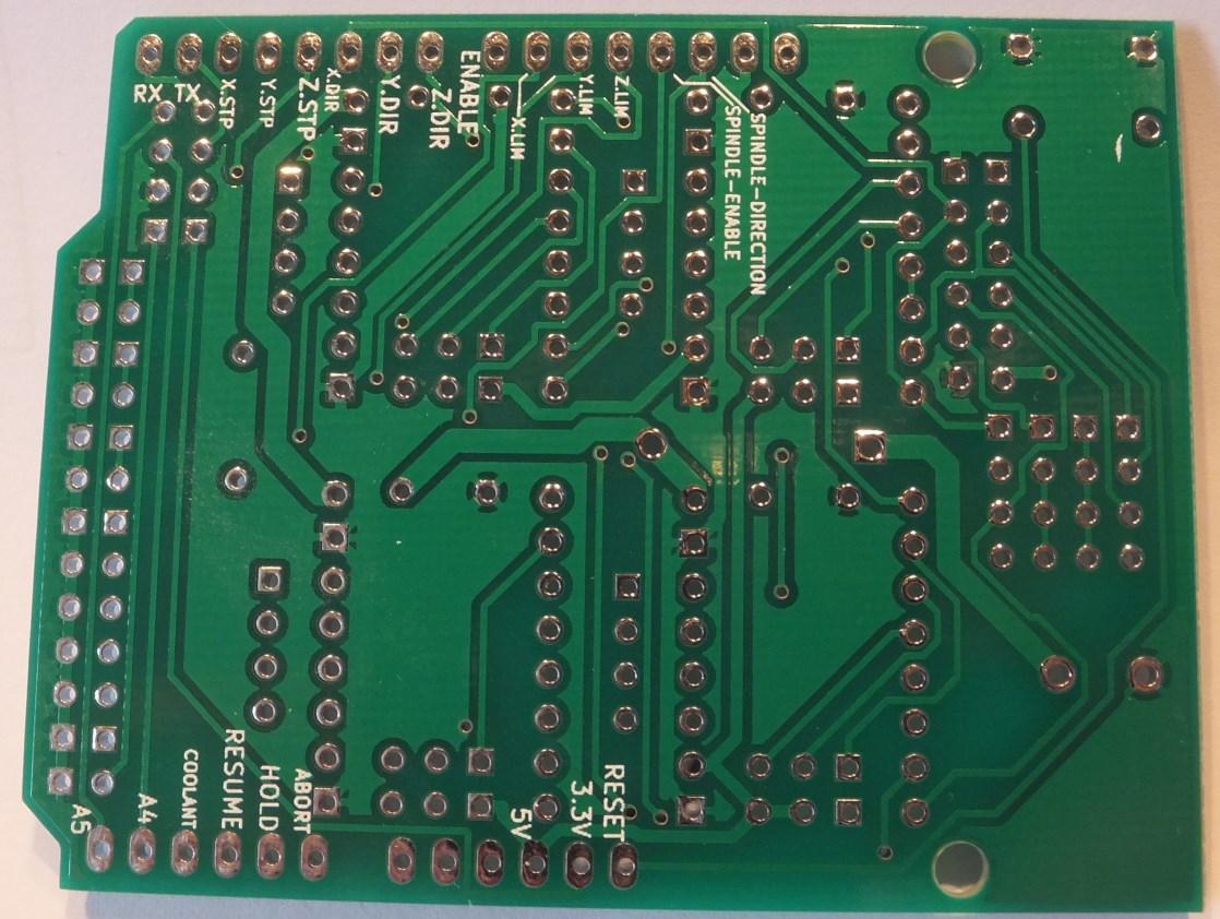 Arduino cnc shield v pcb back protoneer nz