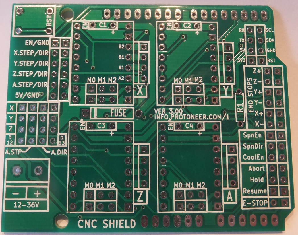arduino cnc shield v3 pcb front. Black Bedroom Furniture Sets. Home Design Ideas