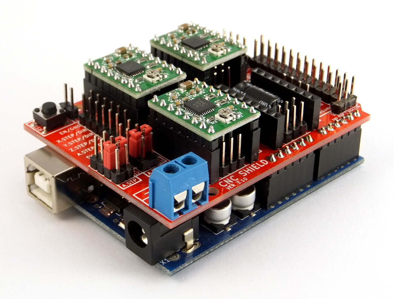 Arduino cnc sheild v populated protoneer nz